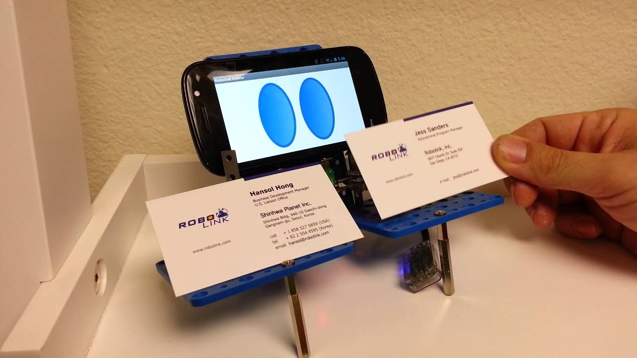 Robolink] Business card dispenser robot - YouTube