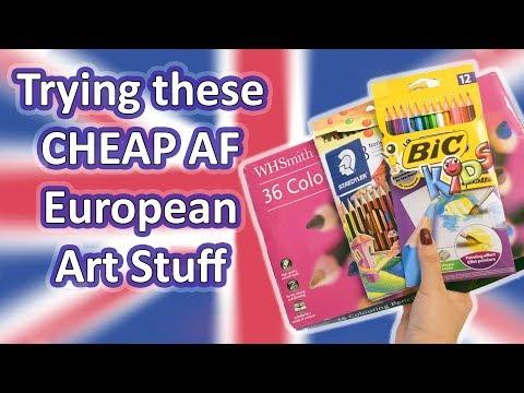 Trying POPULAR and CHEAP European Art Stuff
