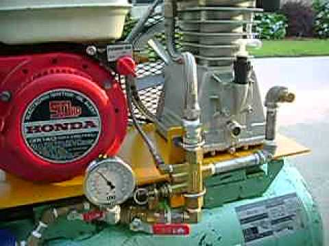 Home built gas powered air compressor.AVI - YouTube