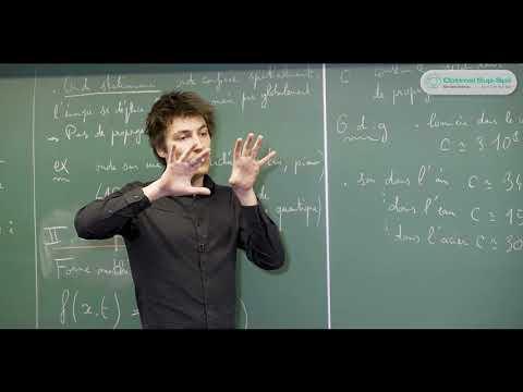 Propagation Des Ondes | Cours Math Spé