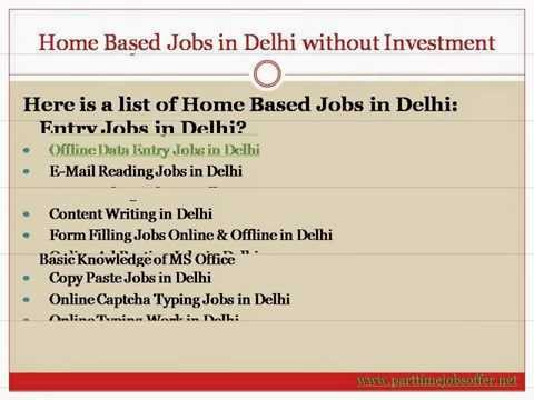 Online Offline Data Entry Jobs in Delhi without Investment