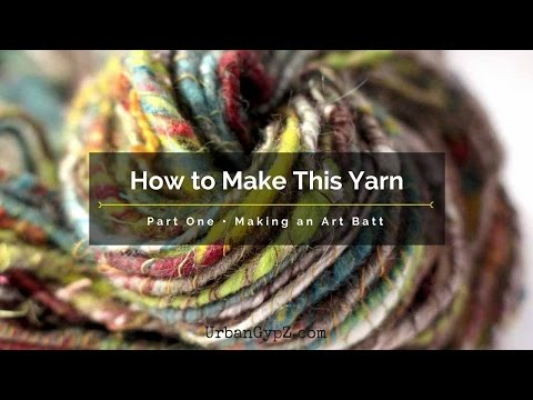How to Make Art Yarn: How I card an art batt