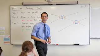 Angles on Parallel Lines (1 of 2: Finding patterns)