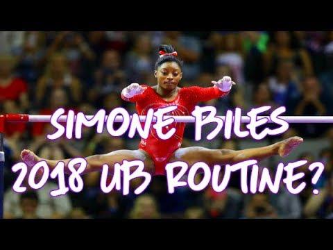 Gymnastics - Simone Biles 2018 Possible Uneven Bars Routine
