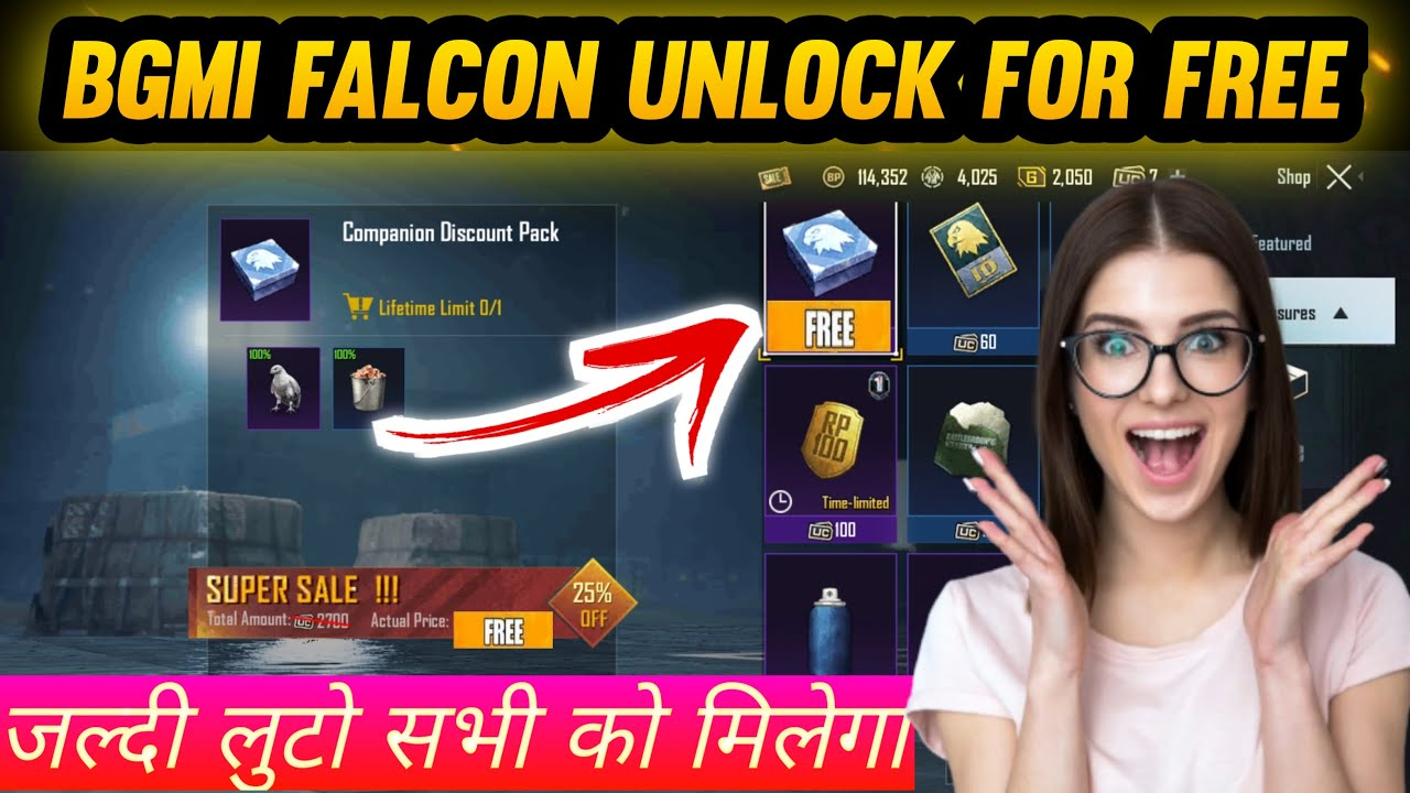 Download How to get free falcon in Battlegrounds Mobile India | Free Falcon in Bgmi | Bgmi Free Falcon Trick
