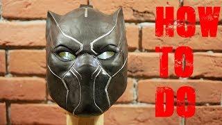 маска Черная Пантера из бумаги  Mask Black Panther paper