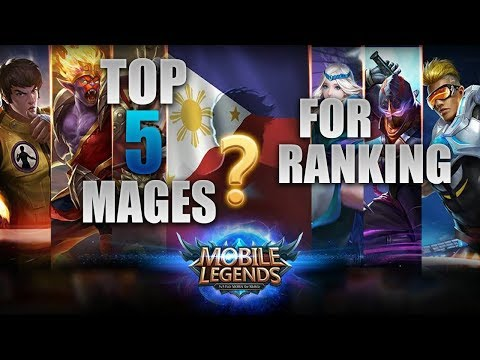 TOP 5 BEST MAGE TO RANK UP - MOBILE LEGENDS GAMEPLAY - 2000 DIAMONDS GIVEAWAY- GUIDE - TIPS
