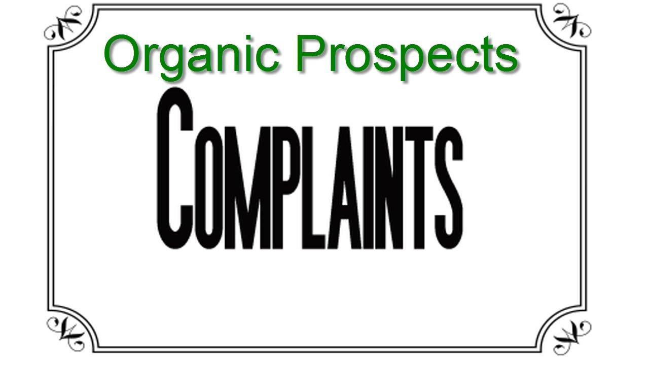 Organic Prospects Complaints (September 2015 edition