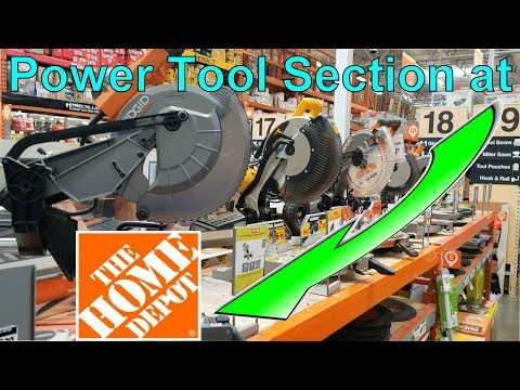 Power Tool Section @Home Depot