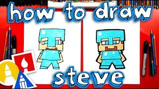 How To Draw Minecraft Steve With Diamond Armor