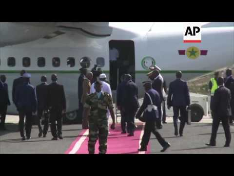 Gambia President departs Dakar for home