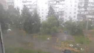 storm hurricane heavy gale hail shower novosibirsk шторм в новосибирске ураган град 12 07 2014