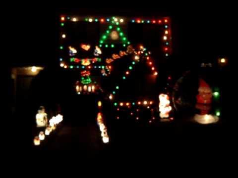 animated christmas lights to music Mr christmas G.E. crazy lights display 2007 bartko
