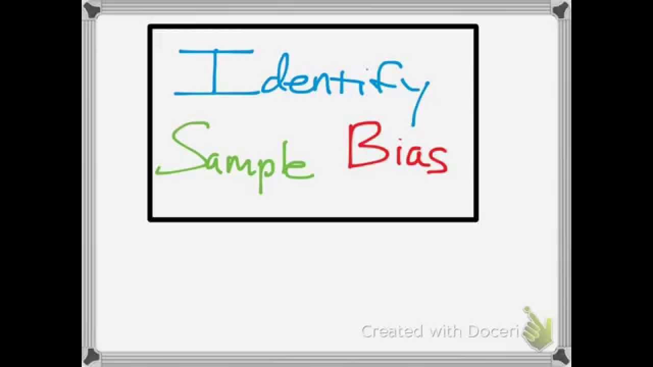 Identifying Sample Bias Examples - YouTube