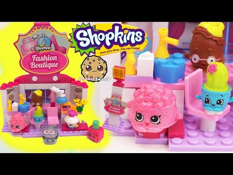 Shopkins Kinstructions Fashion Boutique Hair Salon Playset with Season 4  - Video