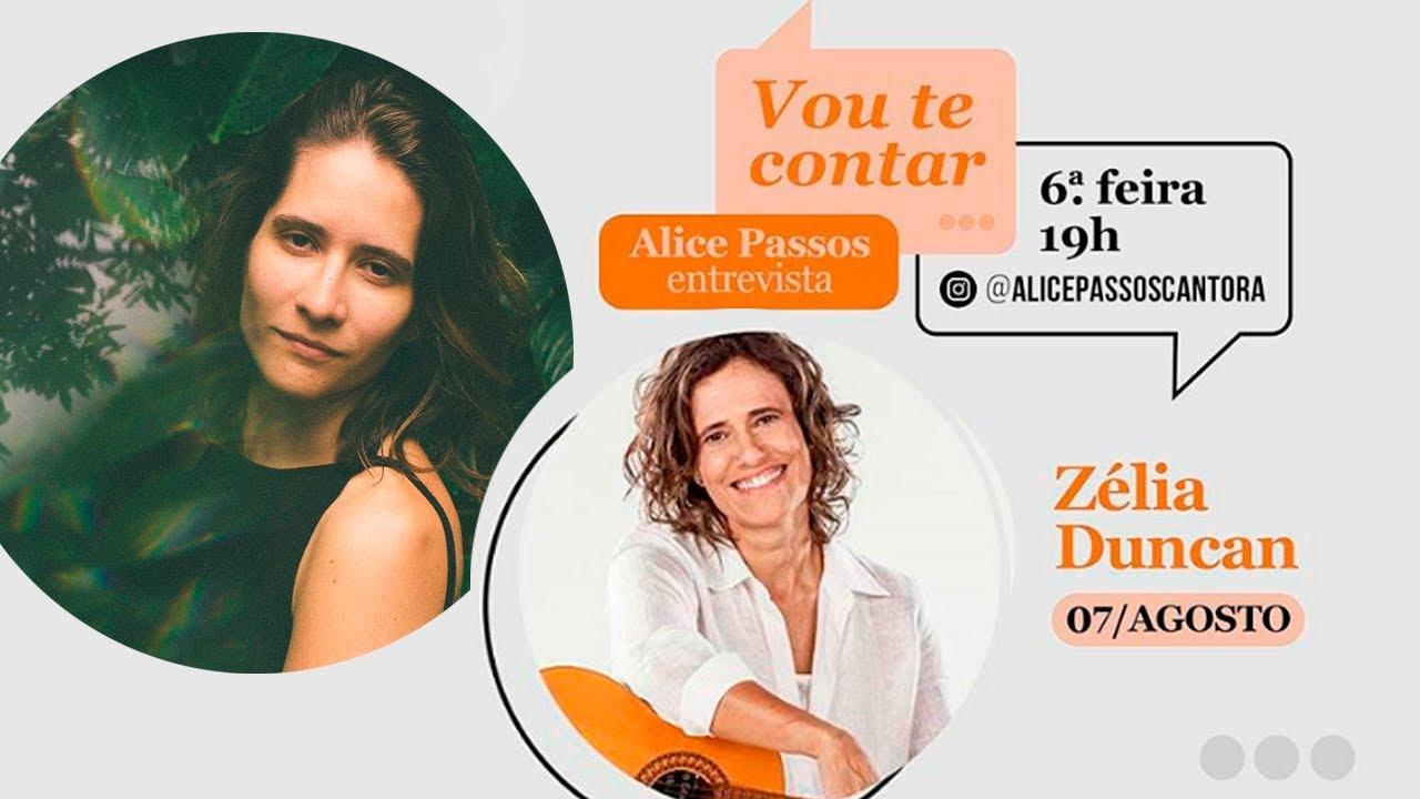🔴 LIVE Vou Te Contar | Alice Passos convida Zélia Duncan