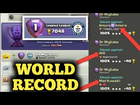 DR MUJTABA THE FIRST PLAYER TO CROSS 7000 TROPHIES ♥️ CLASH OF CLANS
