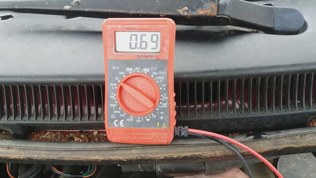 How to test Daewoo Matiz TPS sensor with a multimeter - read description