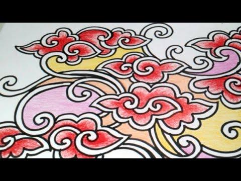 Cara Menggambar Batik Mega Mendung Kontemporer Youtube