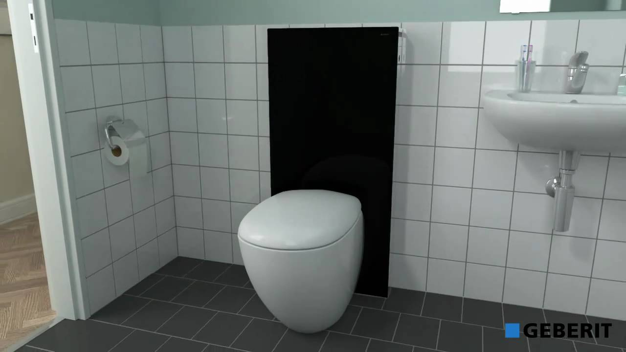 geberit panneau wc monolith youtube. Black Bedroom Furniture Sets. Home Design Ideas