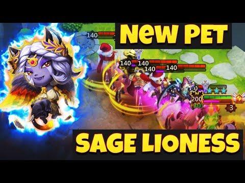 NEW* Pet | Sage Lioness Showcase | Super Mutant Pet | CASTLE CLASH