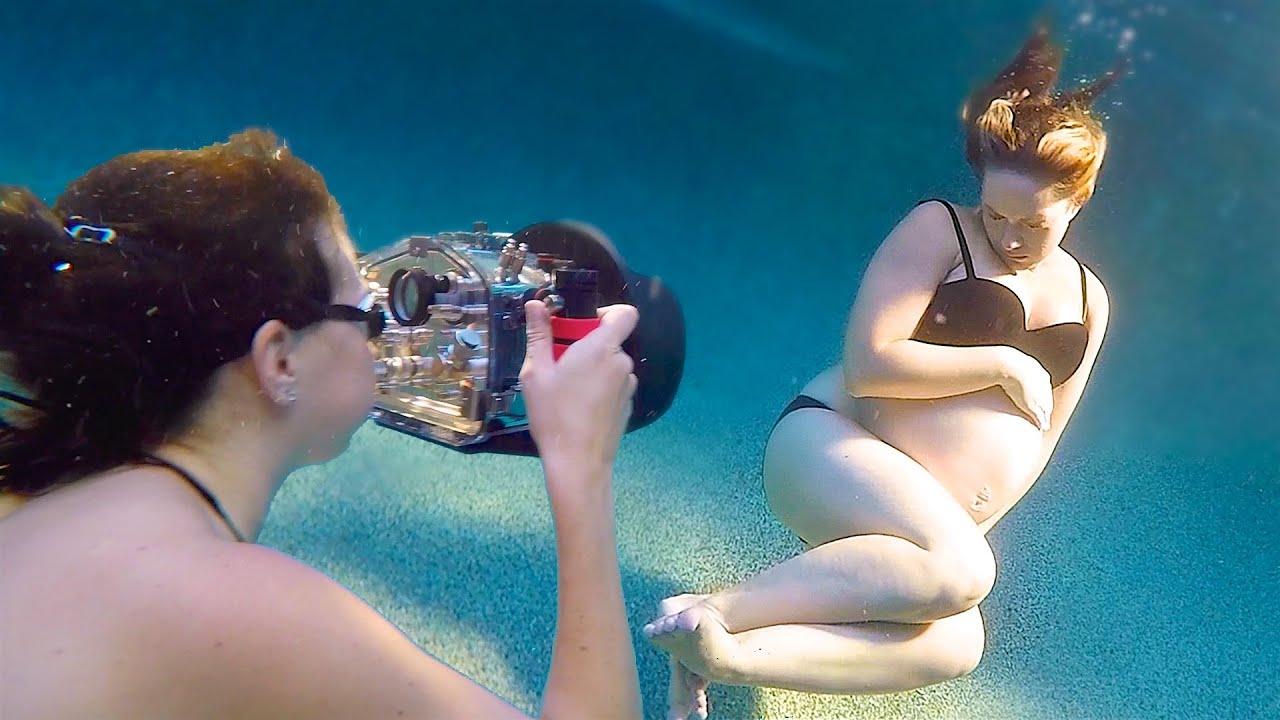 Underwater maternity photoshoot youtube for Pool photoshoot ideas