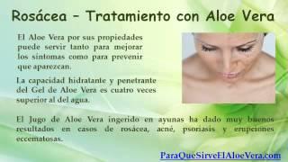 Rosacea - Aloe Vera Para la Cara