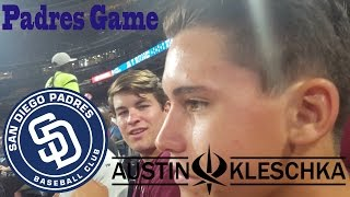 BIG SCREEN AT THE PADRES GAME | Kleschka Vlogs