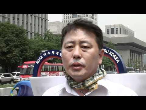 MBC 최일구.김수진 앵커 '해고동료 살리기' 1인시위