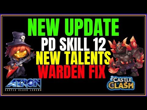 NEW UPDATE - WARDEN CHANGES - PD DESTINY SKILL 12 - CASTLE CLASH