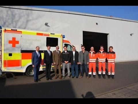 Indienststellung des ersten neuen Rettungswagens beim BRK Schweinfurt