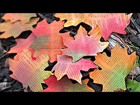 DIY Autumn Paper Leaves - How to make Paper Leaves