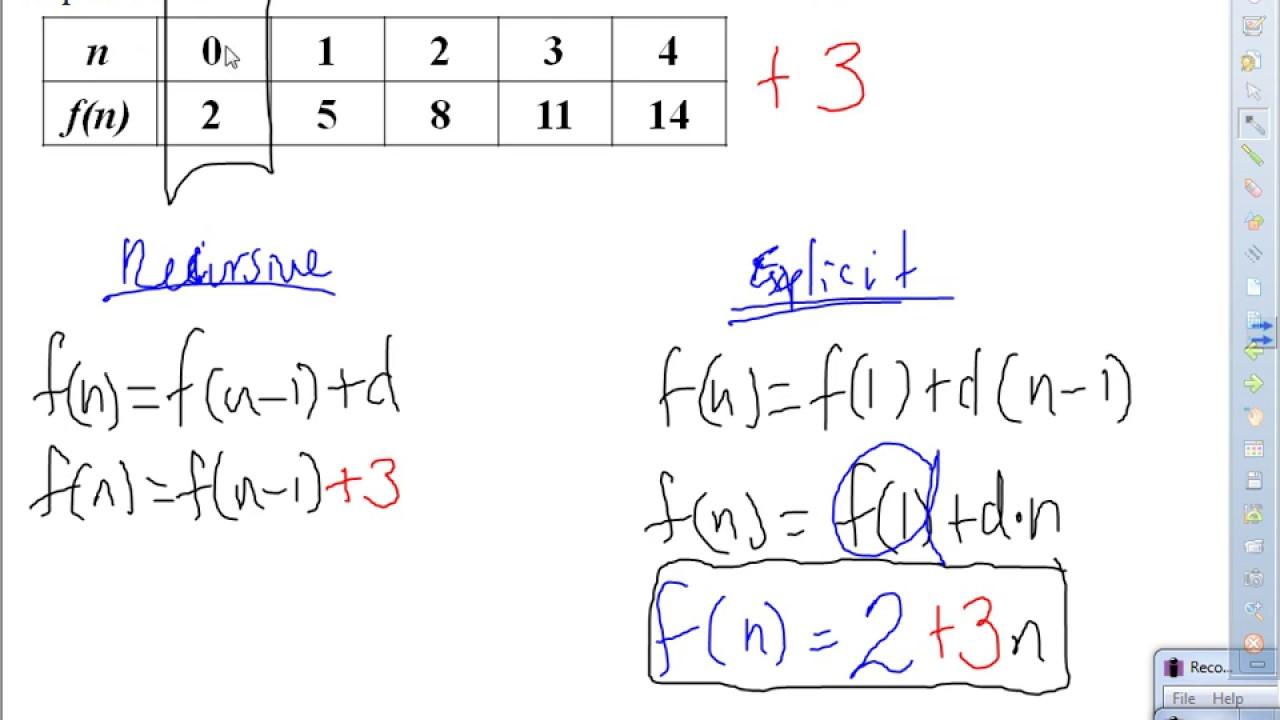 Mr. Q's Recursive & Explicit Arithmetic & Geometric ...