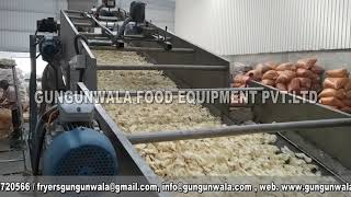 Fully Automatic Fryums / Pellets Frying Line 1000 Kg Per Hour