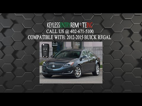 How To Replace A 2011 – 2017 Buick Regal Key Fob Battery Part # 13500227