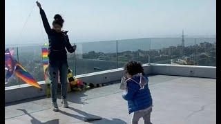 Myriam Fares playing with her son Jayden - ميريام فارس تلعب مع ابنها جايدن