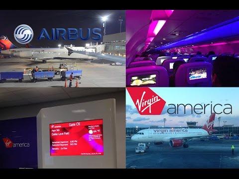 FULL FLIGHT: Virgin America   New York (LGA) to Dallas (DAL)   A320    VX 769   Main Cabin Economy