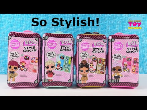 LOL Surprise Style Suitcase Fashion Doll Playset Unboxing   PSToyReviews