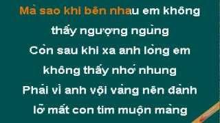 Loi Chua Noi Karaoke - Thùy Chi - CaoCuongPro