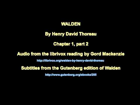 Walden Chapter 1, part 2