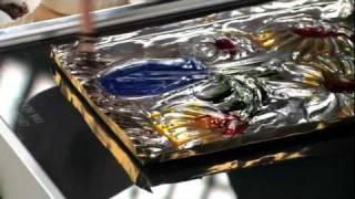 Embossed Metal Encaustics - Lesson Plan