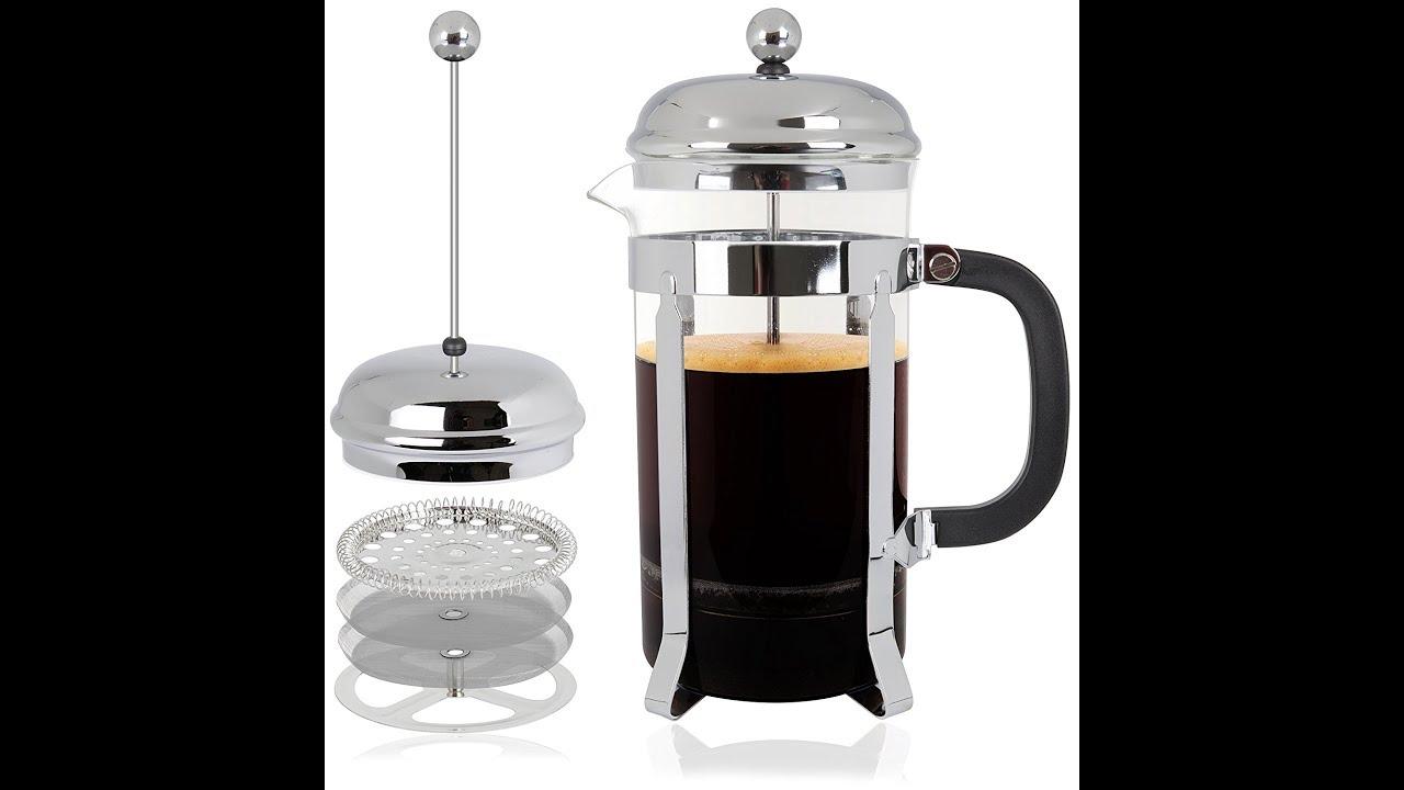 Review: Mr. Kitchen French Press; Glass Coffee Press, 8 Cup 34 oz ...