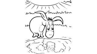 как нарисовать осла,how to draw a donkey,cómo dibujar un burro,come disegnare un asino