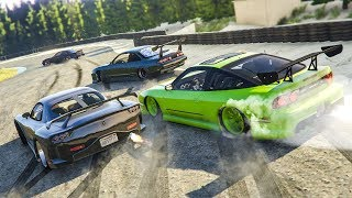 CRAZY GTA 5 ONLINE DRIFTING! - (GTA 5 FiveM Drift Server)