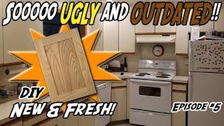 How to Build Shaker Cabinet Door | DIY Refacing Kitchen Cabinets