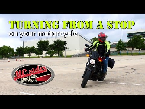 How to turn from a stop on your motorcycle