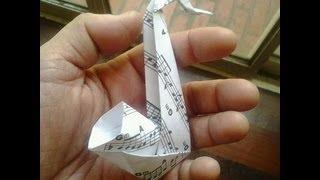 easy origami sax