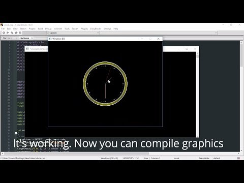 Use graphics.h in Code::Blocks. Graphics program in C/C++