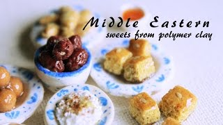 Miniature Middle Eastern Sweets (Polymer Clay Tutorial) Ramadan Sweets
