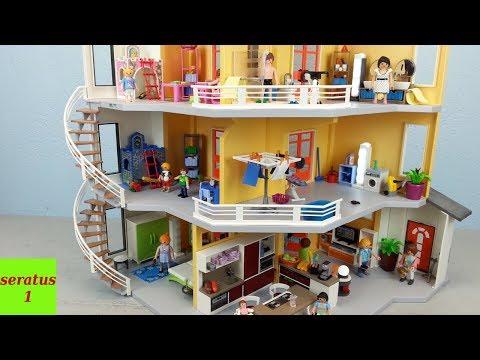playmobil modernes wohnhaus 9266 komplett eingerichtet doovi. Black Bedroom Furniture Sets. Home Design Ideas